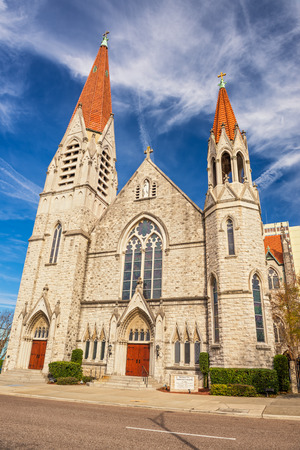 immaculate: Immaculate Conception Catholic Church in Downtown Jacksonville, Florida Editorial