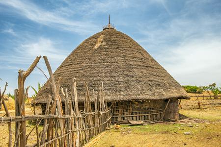 Maison traditionnelle de village, près d'Addis-Abeba, Ethiopie, Afrique Banque d'images - 40386475