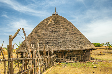 Traditional village house near Addis Ababa, Ethiopia, Africa