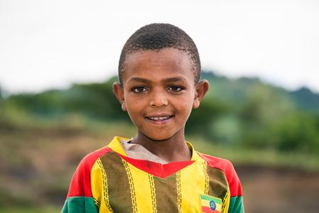 ethiopian ethnicity: ADDIS ABBABA, ETHIOPIA - MAY 4, 2015 : Young ethiopian boy