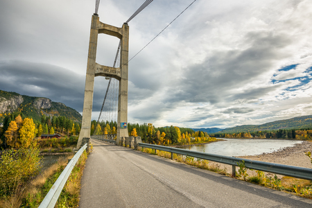 river county: Bridge over the Glomma River leading to Atna village in the Stor-Elvdal municipality, Hedmark county, Norway.