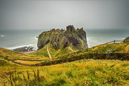 dunnottar castle: Dunnottar Castle, Scotland, United Kingdom. Long exposure.