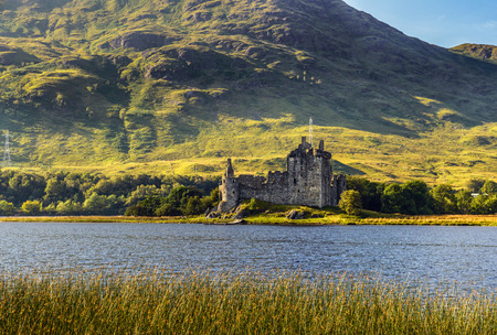 awe: Ruin of Kilchurn Castle  at the northeastern end of Loch Awe, in Argyll and Bute, Scotland Stock Photo