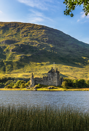 Ruin of Kilchurn Castle  at the northeastern end of Loch Awe, in Argyll and Bute, Scotland Stock Photo