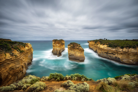 Loch Ard Gorge along the famous Great Ocean Road in Victoria, Australia, near Port Campbell and The Twelve Apostles. Long exposure.