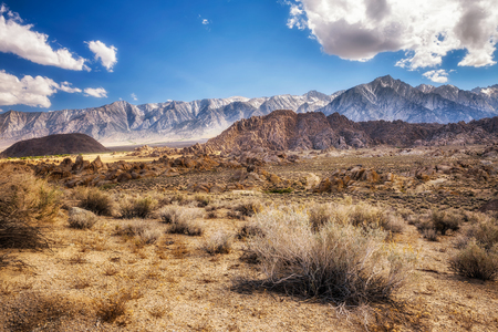 Alabama Hills in Sierra Nevada Mountains near Lone Pine, California, USA