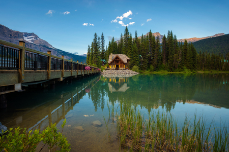 Emerald Lake Lodge with a restaurant in Yoho National Park, British Columbia, Canada