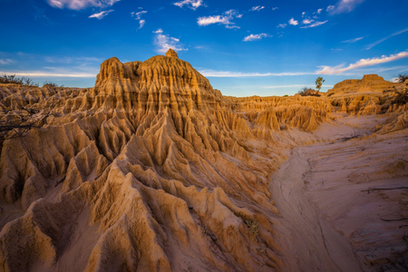 Formations in outback desert of New South Wales in Australia Stock Photo