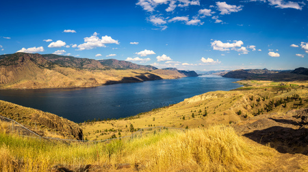 Summer panorama of the Kamloops lake in Canada Stock fotó
