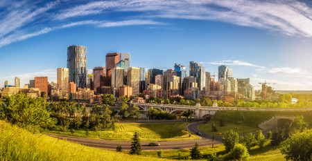 City skyline of Calgary, Canada 写真素材