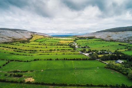 Aerial view of The Burren in Ireland