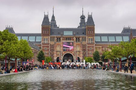 Rijksmuseum with the words I amsterdam