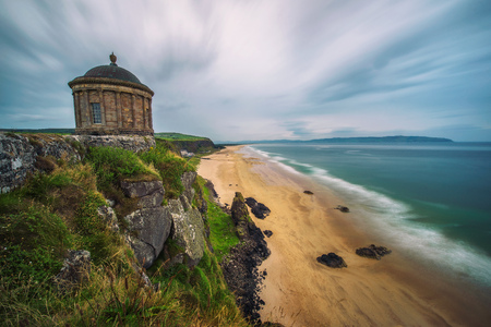 Mussenden Temple located on high cliffs near Castlerock in Northern Ireland