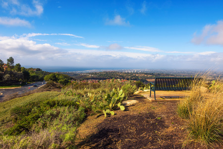 Huntington and Newport Beach viewed from the Vista Ridge Park in California