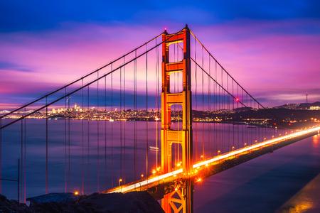 Most Golden Gate w nocy