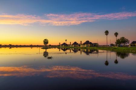 Sunrise above Lapa Lange Game Lodge near Mariental in Namibia