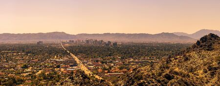 Panorama of Phoenix downtown