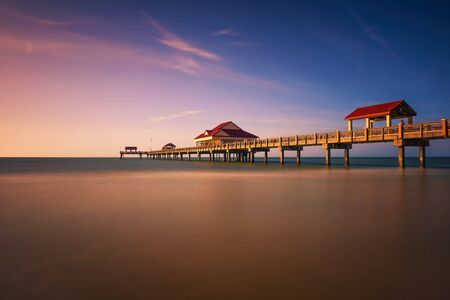 Pier 60 at sunset on a Clearwater Beach in Florida