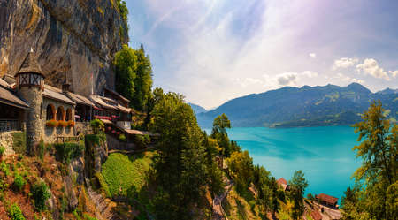 St. Beatus Caves located above Thunersee, Switzerland