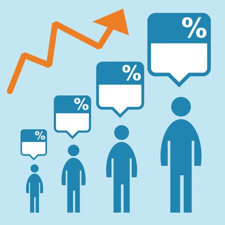 demographics: People graph Illustration
