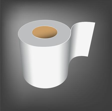 toilet paper roll illustration white vector background Vector Illustration