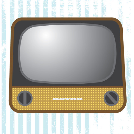 tv retro: tv retro television set old vector illustration isolated