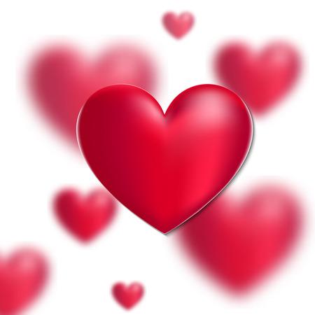 Vector 3D Heart valentines day illustration