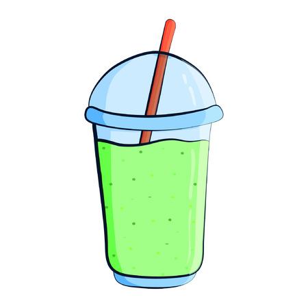 Green milkshake icon