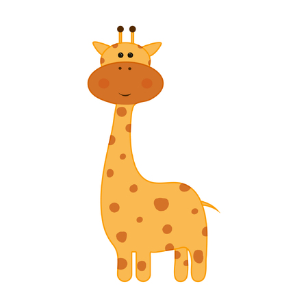 Cute Giraffe Vector. Cartoon giraffe