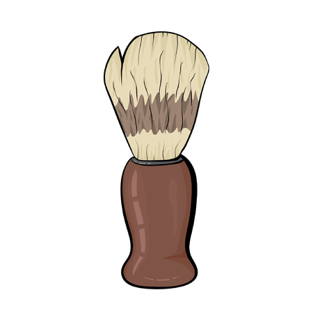 Shaving brush isolated on white background eps10 Illustration