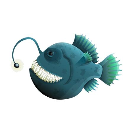 A Museum exhibit of fish anglerfish. Vector illustration. eps10 Standard-Bild - 105778804