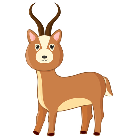 Cartoon impala. Cute vector antilope eps10