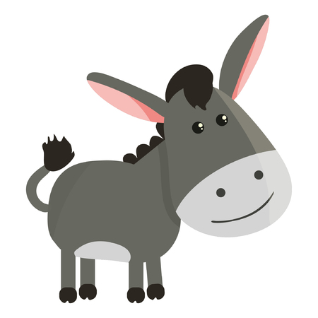 cartoon donkey smile and happy eps10 Standard-Bild - 114705856