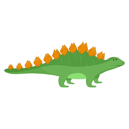 Cute stegosaurus cartoon vector eps10 Illustration