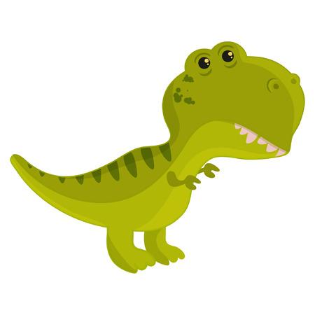 Cartoon tyrannosaurus vector illustration eps10 Standard-Bild - 105778917