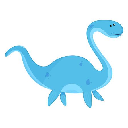 Cute dino elasmosaurus baby vector illustration eps10 Standard-Bild - 114705860
