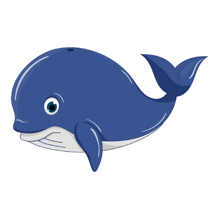 Happy whale. Vector illustration Standard-Bild - 122051129
