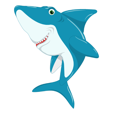 Cute shark, baby illustration Standard-Bild - 122051130