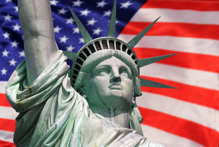 statue of liberty: Statue of Liberty in New York City - celebration Stock Photo