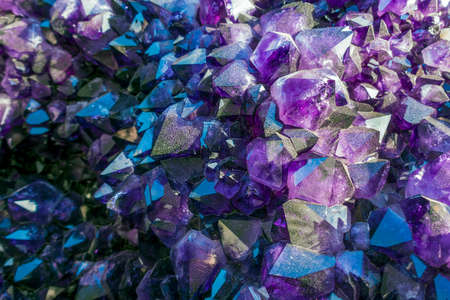Amethyst Crystals in nature. Geode crystals.