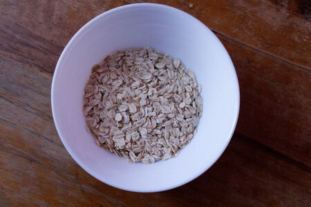 A bowl of oat flakes