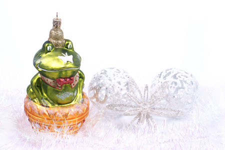 christmas frog: Ornaments Christmas, frog glass bauble