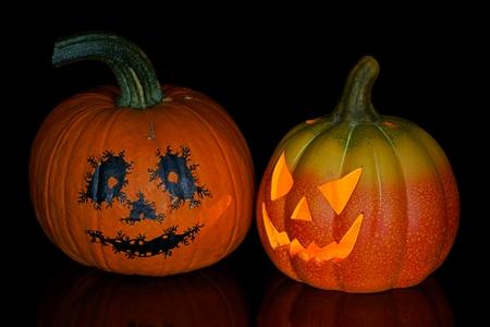 jack'o'lantern: Pumpkin, halloween, old jack-o-lantern on black background