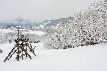 Winter In Transylvania Romania - Rural Scene