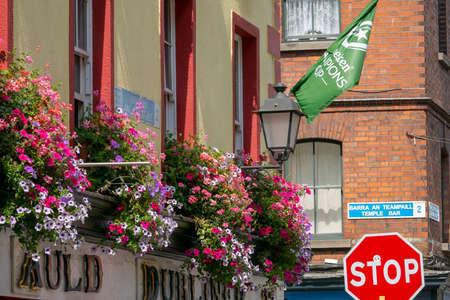 Dublin,Ireland - JULY 29, 2019: Famouse pub in temple bar area in Dublin city center