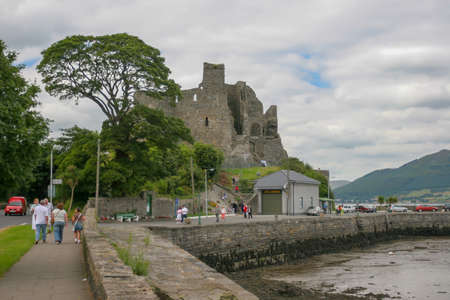 Dublin, Ireland - August 01 2005: Beautiful day in Carlingford Village on the borther onf Northen Ireland Editorial
