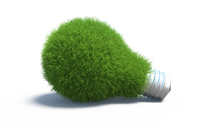 idea lamp: green energy concept