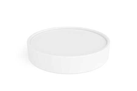 closed container with cream for face Stock Photo
