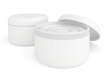 several containers of cream photo