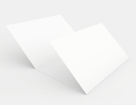 Blank sheet of paper on the a white background Stock Photo